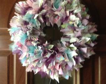 SALE! Handmade Easter Rag Wreath