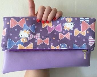 Hello Kitty Purple Fold Over Clutch