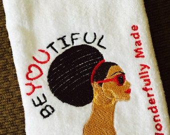 Customized fingertip towels