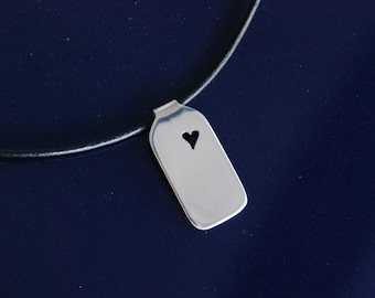 14* Heart with name - Necklace to personalize, Sterling Silver 925