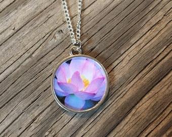 Lotus Flower Pendant Necklace