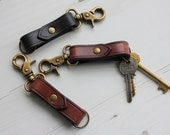 Leather Keyring with Belt Clip