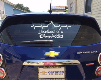 Heartbeat of a Disney Addict Decal sticker