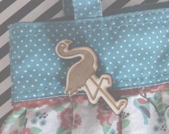 Flamingo Pin Brooch Lasercut from Wood