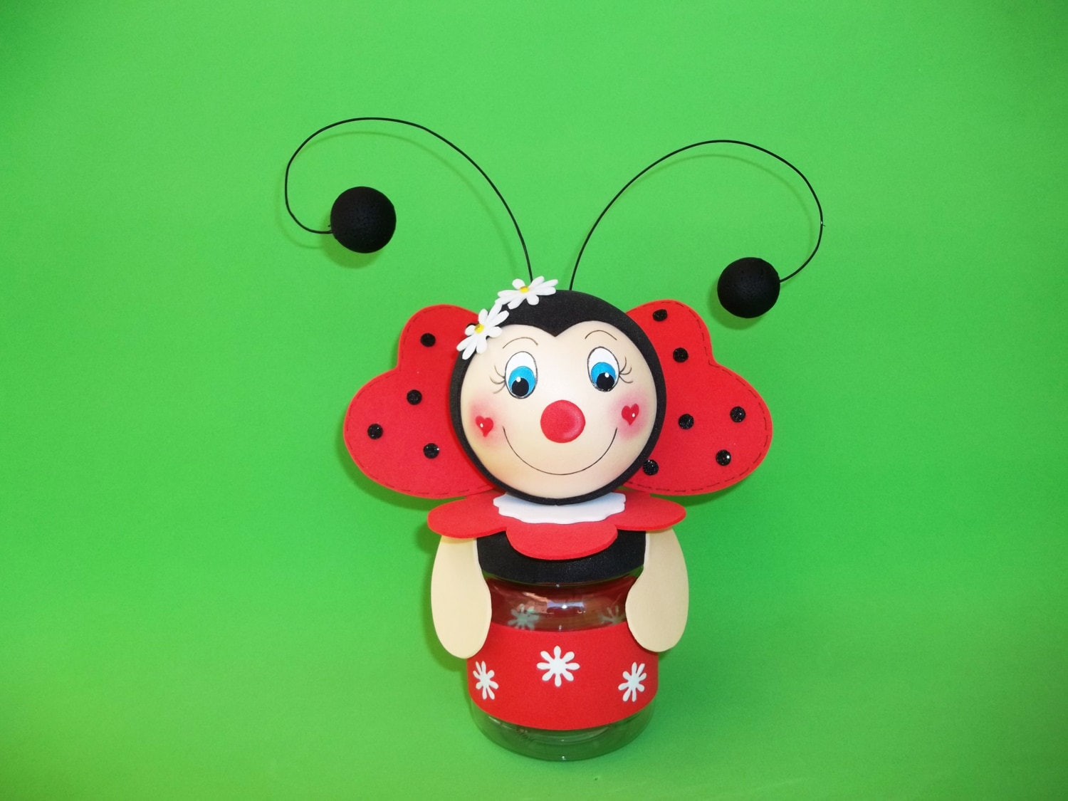 Lady bug party favor ladybug lady bug birthday favor for Coccinelle decoration exterieure