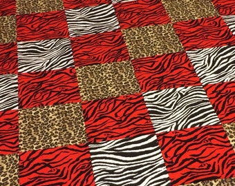 Zebra and Cheetah Print Quilt
