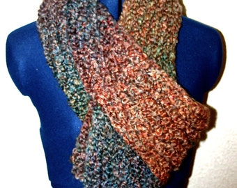 Multi-colored soft scarf