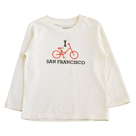 Organic Kids Tshirt I Bike San Francisco Sf Shirt Kids