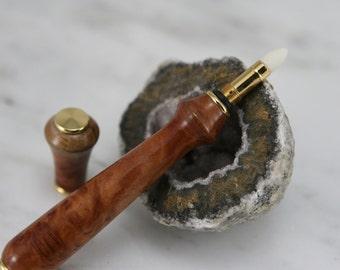 Purfume Applicator - Purfume Pen -  Hand Turned from Amboyna Burl -  Item 1043