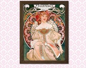 Print Alphonse Mucha Poster Art Nouveau Print 1897 - Alphonse Mucha Print Art Nouveau Poster Mucha Wall Artt