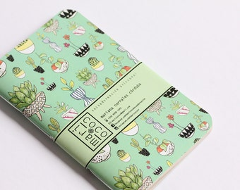 Little Pots Notebook -journal, sketchbook-