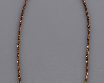 Vintage Gold Vermeil Serpentine Chain 925 Italy Twisted Chain Necklace