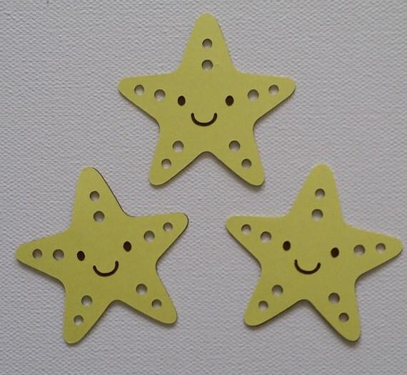 Star Fish Die Cut Set Of 3 From Debrascutsandcrafts On