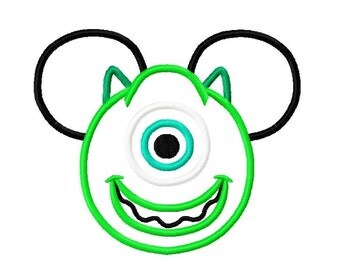 Character Inspired Mike Green Monster Embroidery Applique Design
