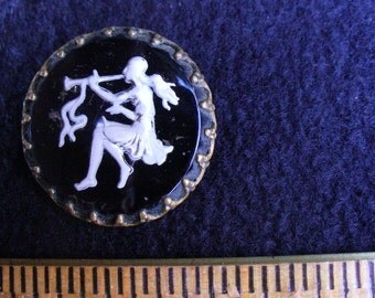 Vintage Glass Cabochon Cameo(18)