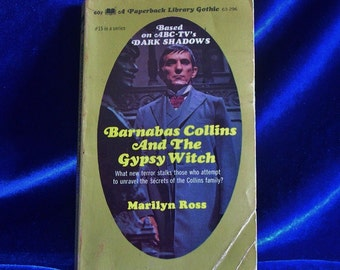 1970 Dark Shadows Paperback Book Barnabas Collins and the Gypsy Witch Fun Gift!