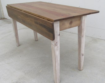 Table, Dining Table, Reclaimed Wood, Kitchen Table, Drop Leaf Table, Farmhouse, Rustic