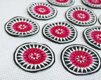 Hmong Embroidery Sun Pattern Fabric Decoration