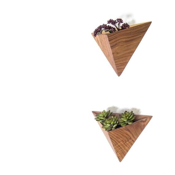 Triangular Air Plant Planter Box Geometric Indoor Planter