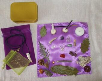 Cernunnos altar,  Cernunnos pocket altar, Horned God altar, Horned God pocket altar, Pagan altar,Pocket altar,travel altar,Pagan altar kit,