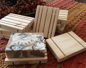 WOODEN SOAP DISHES....handcrafted, pine, soap saver