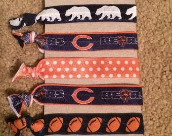 Chicago Bears Elastic Hair Ties