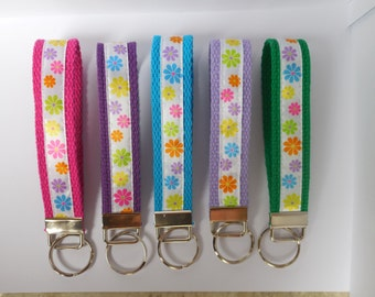 Key Fob with Flowers