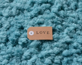 Handmade stamped With Love gift tag pack of by HWCreative