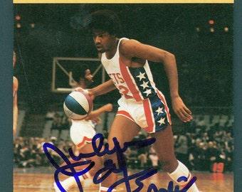 1977-79 Sportscaster Julius Erving Signed Card AUTO Dr. J JSA