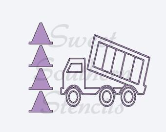 Truck PYO Cookie Stencil
