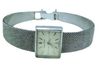 Vintage Movado Backwinder 18K White Gold Ladies Watch Mechanical NOS Swiss