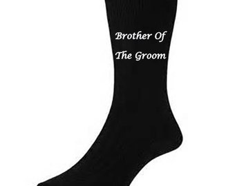Personalised wedding SOCKS Brother of the Groom