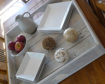 Large recycled wooden tray