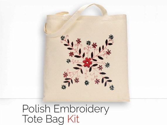 Kit Polish Embroidery DIY Tote Bag Kit Fair Trade Folk Art