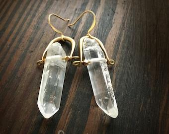 Crystal Point Earrings