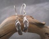 Flip Flop Earrings - Dangle - Flip Flops - Sandals - Summer Inspired - Sterling Silver Flip Flop Charm - Wire Earrings  - Ocean - Beach