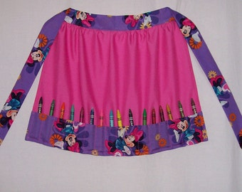 Little Girls Crayon Apron Disney Minnie Mouse