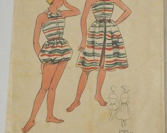 "sewing pattern vintage ""The boss of Paris"" n 113 (set of beach for ado) years 50/60"
