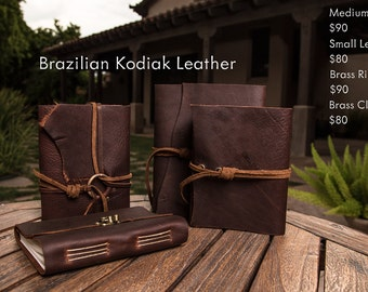 Brown Kodiak Leather Journals | Handmade in the U.S.A.