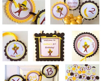 Curious George Party Package