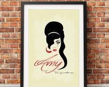 """Original Print Inspired by Amy Winehouse's """"Tears Dry On Their Own"""""""