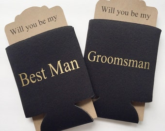 Groomsman Proposal Can Cooler | Will you be my Best Man Groosman | Bridal Party