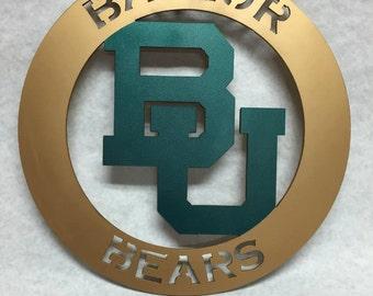 Baylor Bears circular sign