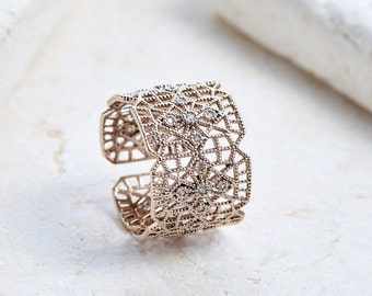 Juliet Ring - White gold/ Rose gold/ Yellow gold plated dainty