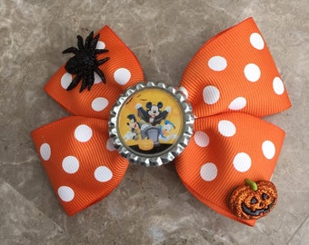 Halloween hair bow mickey and friends