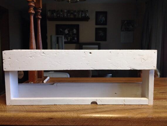 Reclaimed Barn Wood Towel Rack and Medicine Shelf