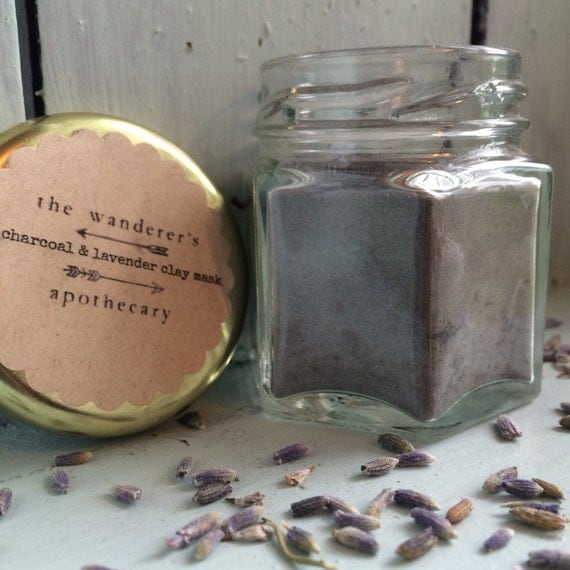 Bentonite Clay And Activated Charcoal Face Mask: Bentonite Clay Activated Charcoal & Lavender Face Mask/Clay