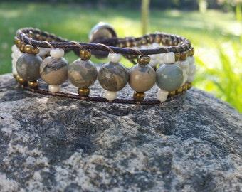 Bohemian summer cuff bracelet