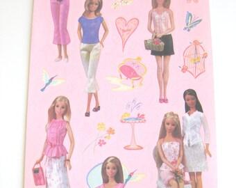 ON SALE* Sandylion Barbie Stickers // Mattel Barbie stickers // Barbie birthday party