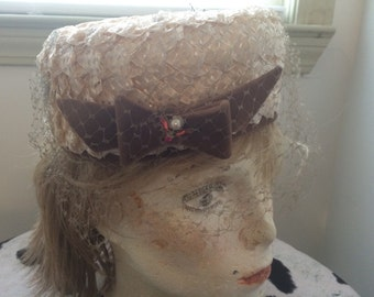 Vintage Hat with Bow